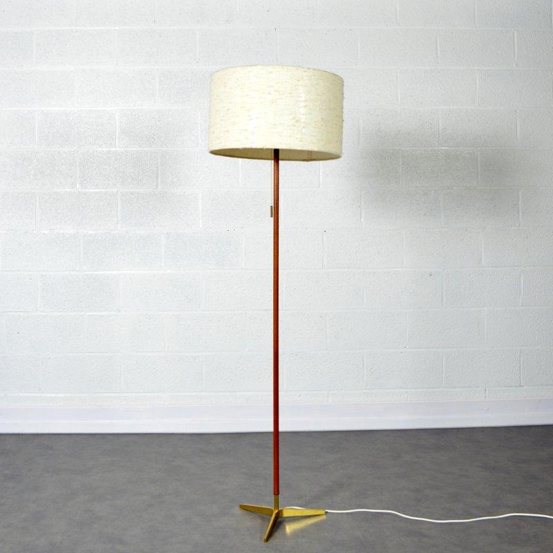 lampadaire liseuse tr pied design scandinave 1960s. Black Bedroom Furniture Sets. Home Design Ideas