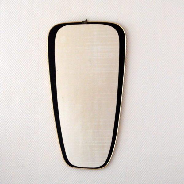 Grand miroir rétroviseur années 50 vintage