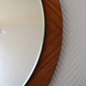 Miroir rond scandinave 1960 teck vintage 8