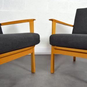 Paire de fauteuils scandinave 1960 vintage 10