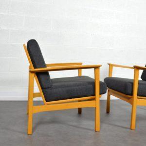 Paire de fauteuils scandinave 1960 vintage 14