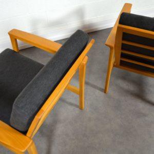 Paire de fauteuils scandinave 1960 vintage 20