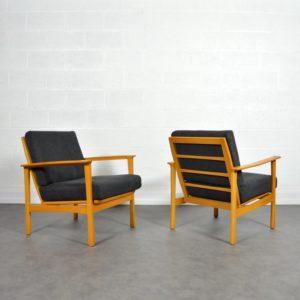 Paire de fauteuils scandinave 1960 vintage 21