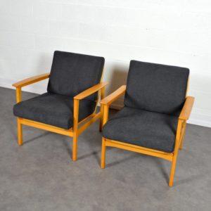 Paire de fauteuils scandinave 1960 vintage 25