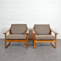 Paire de fauteuils scandinave 1960 vintage 27