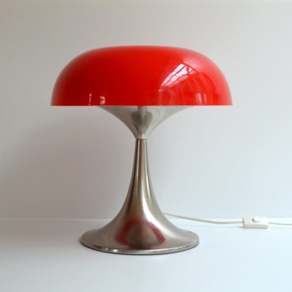 Lampe de table champignon design 1970s