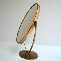 Miroir sur pied 1960s laiton vintage 22