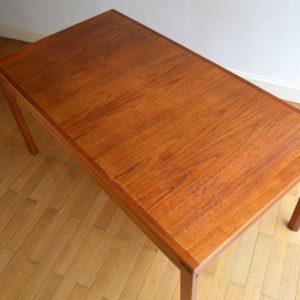 Table à manger scandinave Gerhard Berg 1960 vintage 32