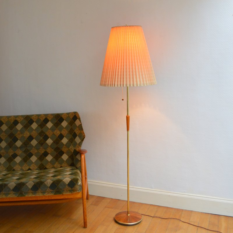 lampadaire liseuse design scandinave 1960s. Black Bedroom Furniture Sets. Home Design Ideas