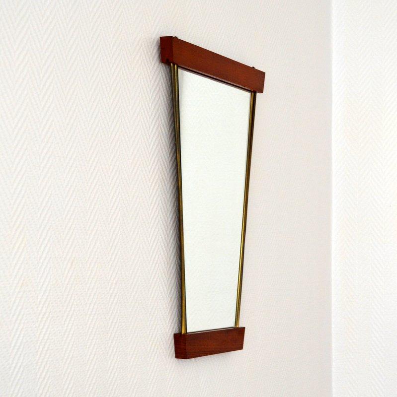 Miroir ann es 50 60 teck vintage for Miroir hauteur 160