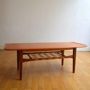 Table de salon scandinave 1960 vintage 2