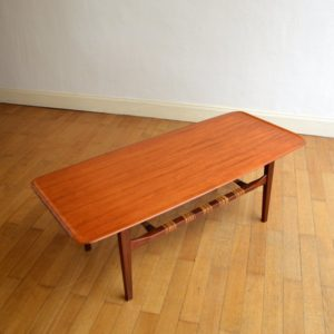 Table de salon scandinave 1960 vintage 21