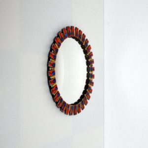 miroir bombé œil de sorcière 1960 vintage 17
