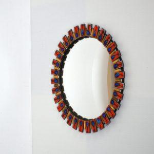 miroir bombé œil de sorcière 1960 vintage 18