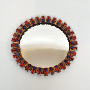 miroir bombé œil de sorcière 1960 vintage 21