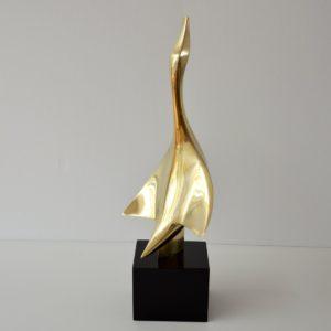 sculpture Philippe Jean en bronze doré 1978 vintage 14