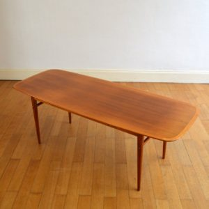 Table basse scandinave 1960 vintage 1