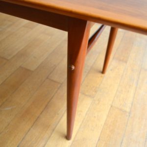 Table basse scandinave 1960 vintage 24