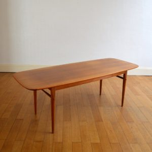 Table basse scandinave 1960 vintage 25