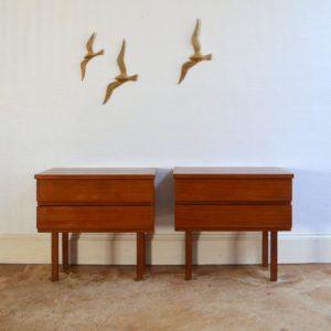 Tables de chevets scandinave 1960 vintage 7