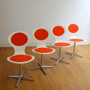 4 chaises Benze années 60 vintage 43