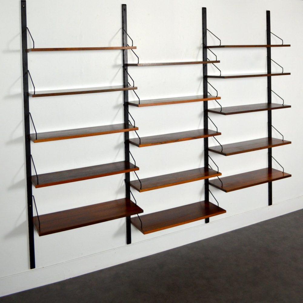 Système d'étagères modulables – Bibliothèque Poul Cadovius Palissandre 1960s