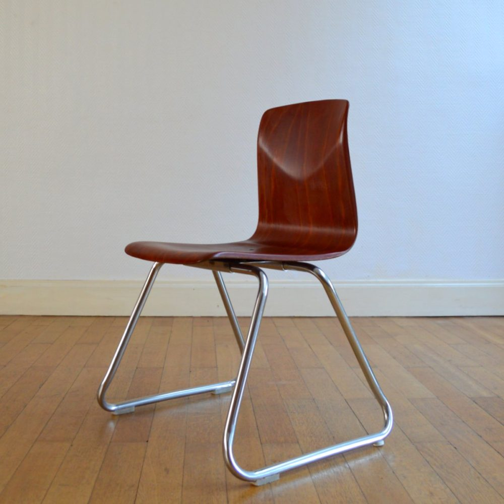 Chaise Pagholz vintage 1960s