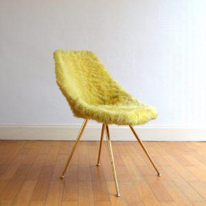 Chaise moumoute 1950 vintage 2