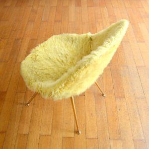 Chaise moumoute 1950 vintage 30