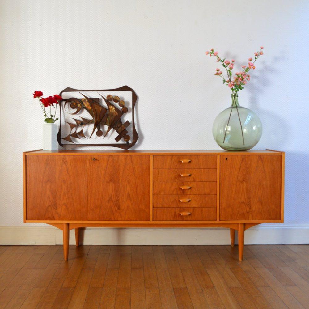 Enfilade design Scandinave 1960 vintage