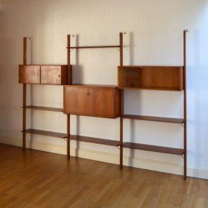 Wall unit : Bibliothèque scandinave Fristho vintage 36