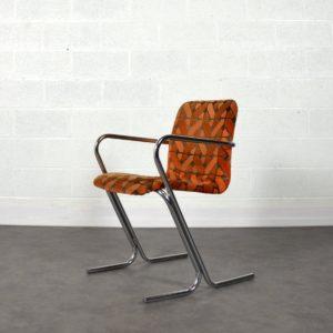 Chaise Tavo vintage orange 2