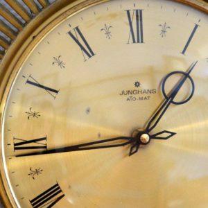 Horloge murale soleil laiton 1950 vintage 16