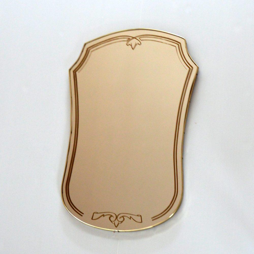 Miroir contour laiton vintage