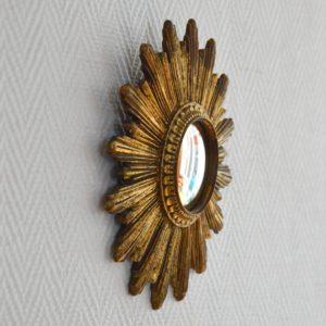 Petit miroir soleil vintage 9