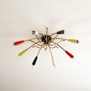 Plafonnier : Lustre araignée 1950 vintage 22