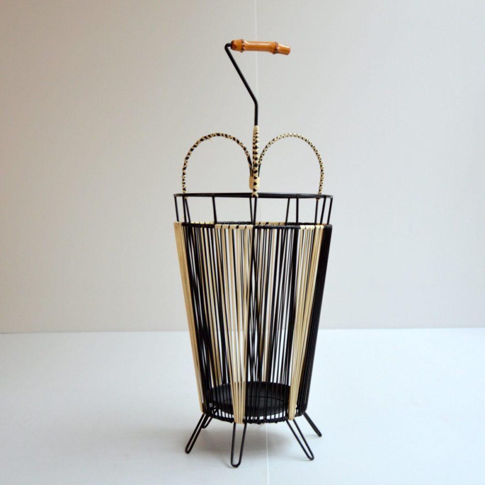 Porte-parapluie scoubidou vintage 1950s