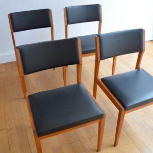 4 chaises scandinave vintage 7