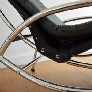 Chaise longue : à bascule 1970 vintage 17