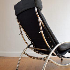 Chaise longue : à bascule 1970 vintage 23