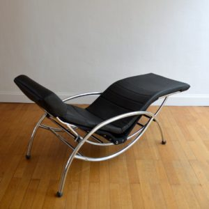 Chaise longue : à bascule 1970 vintage 31