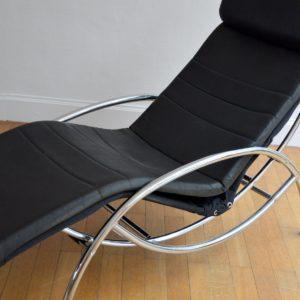 Chaise longue : à bascule 1970 vintage 38