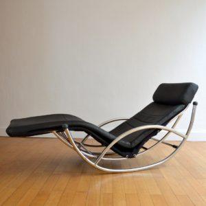 Chaise longue : à bascule 1970 vintage 49