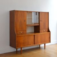 Meuble bar / Buffet / Vaisselier scandinave teck 1960s