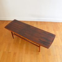 Table basse scandinave en palissandre 1960s