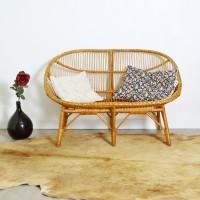 Canapé en rotin années 60