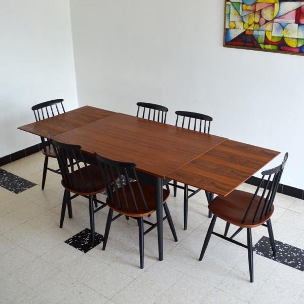 Table avec rallonges Tapiovaara 1955′