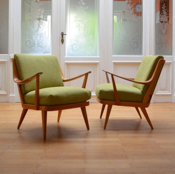 Paire de fauteuils scandinave Knoll Antimott