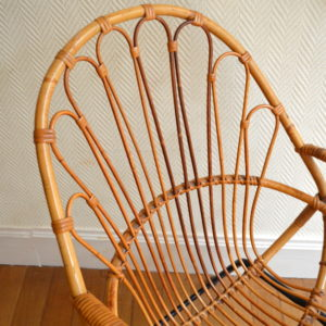 chaise rotin vintage 7