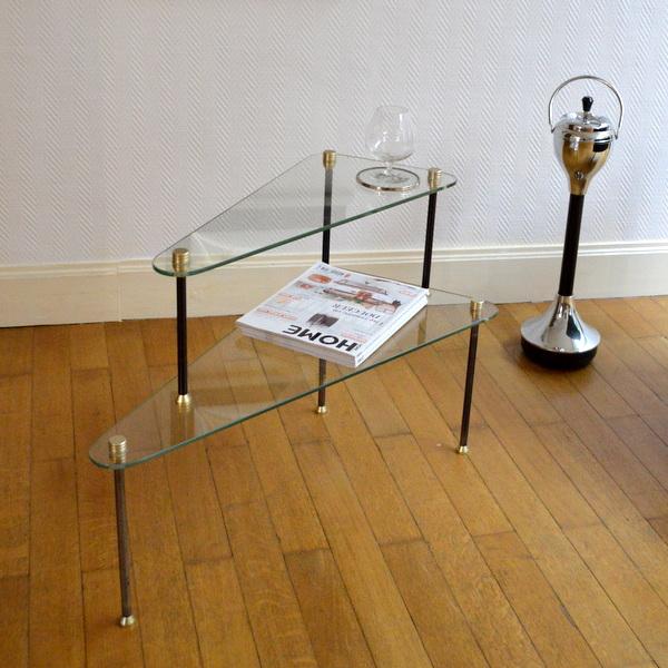 Table basse tripode années 50